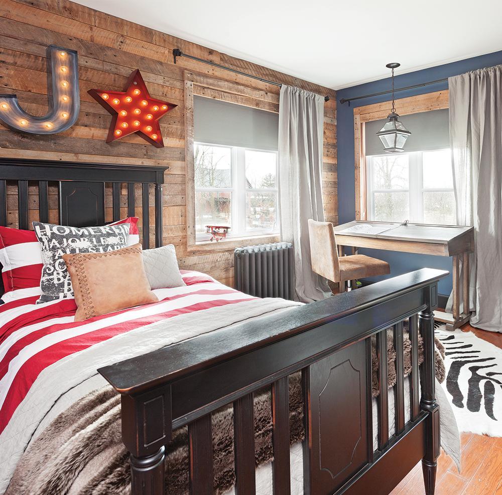Дизайн комнаты для подростка в стиле кантри