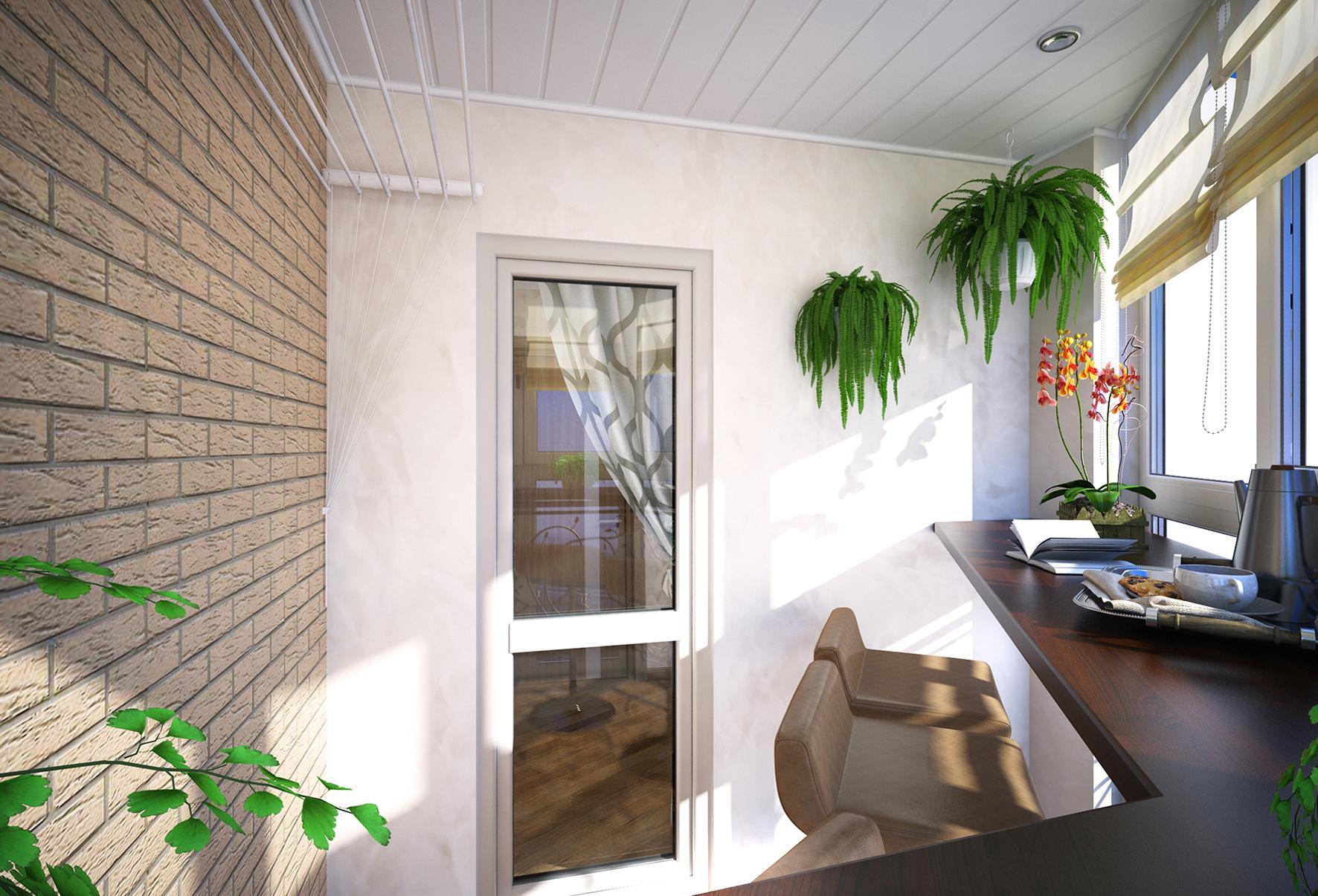Такой балкон можно использовать и для работы, и для общения