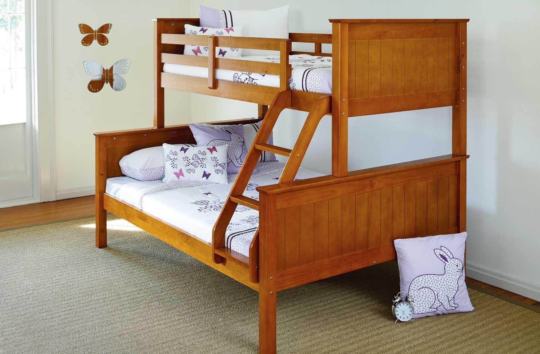 Деревянная двухъярусная кровать в детскую