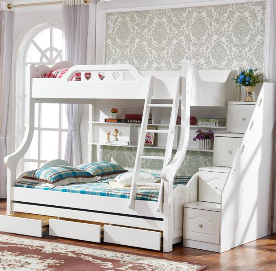 Детская кровать из массива дерева с ящиками