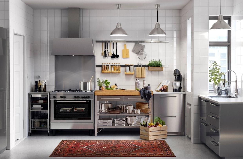 Металлическая кухня 14 кв. м