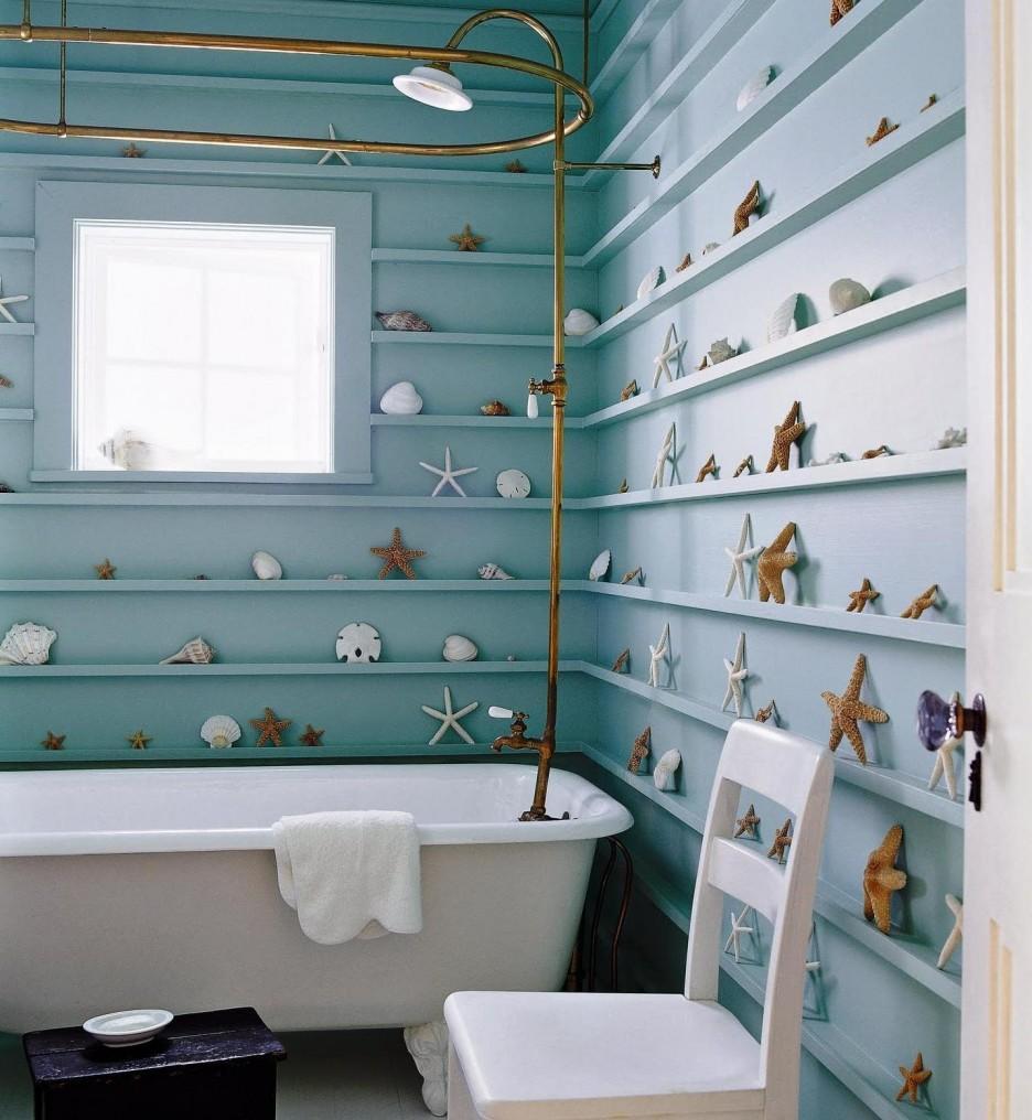 Ванная в бирюзовых цветах