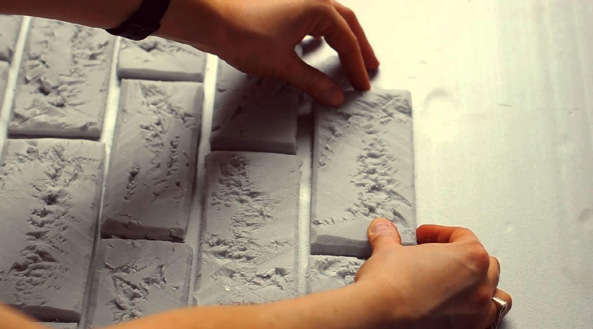 Имитация кирпича из пенопласта
