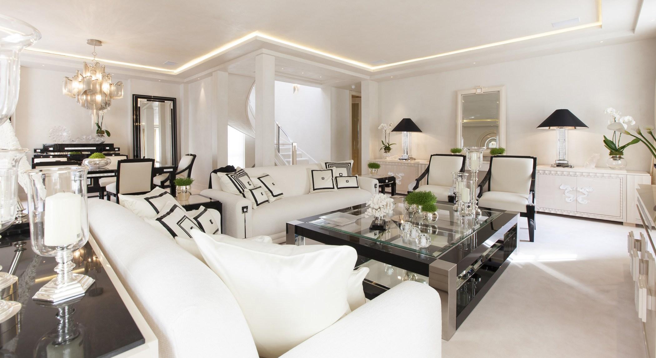 Двухуровневая квартира в неоклассическом стиле