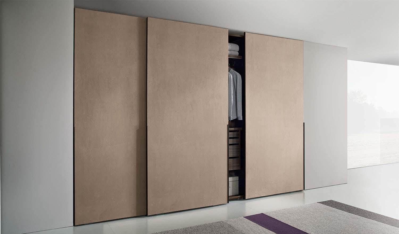 Встроенный шкаф купе в стиле минимализм