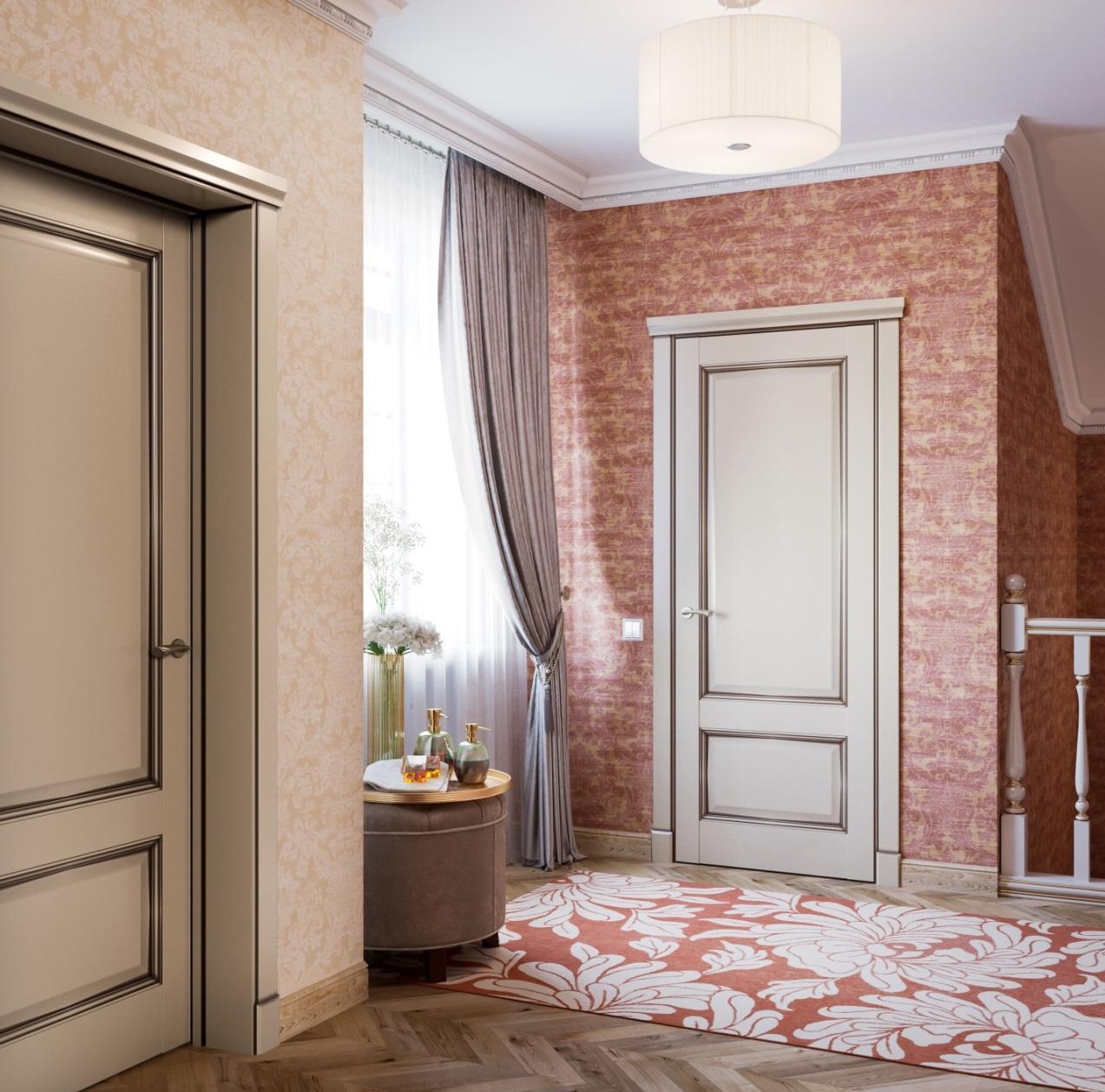 Двери капучино в классическом стиле