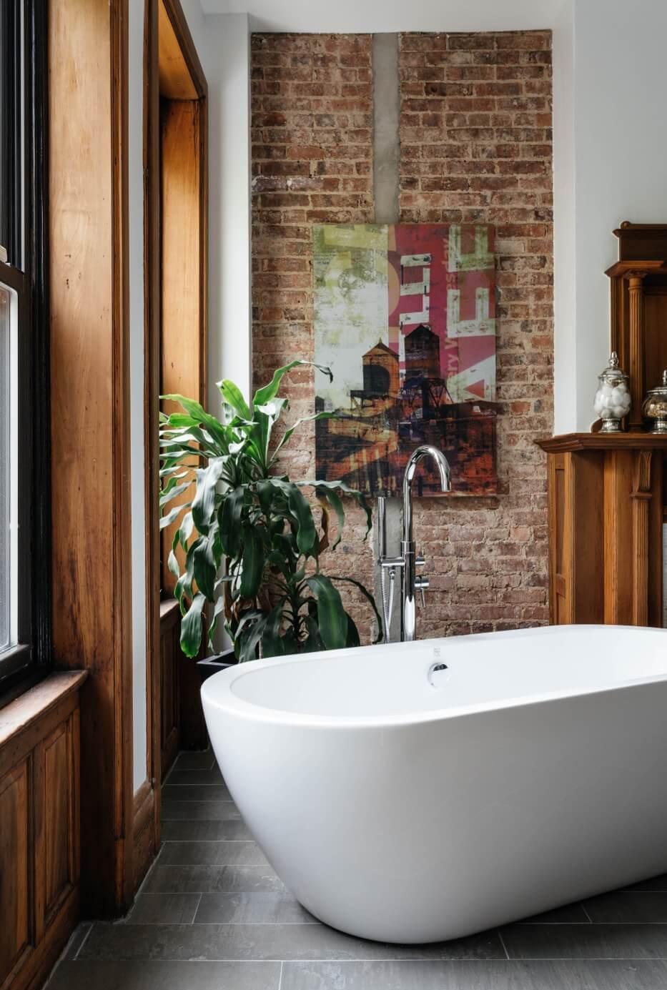 Ванная в двухуровневой квартире
