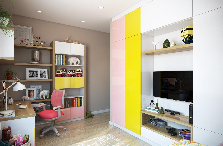 Детская комната в хрущевке с корпусной мебелью
