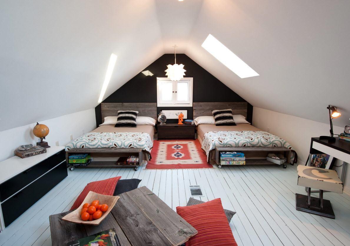 Дизайн детской комнаты для двух мальчиков в стиле кантри