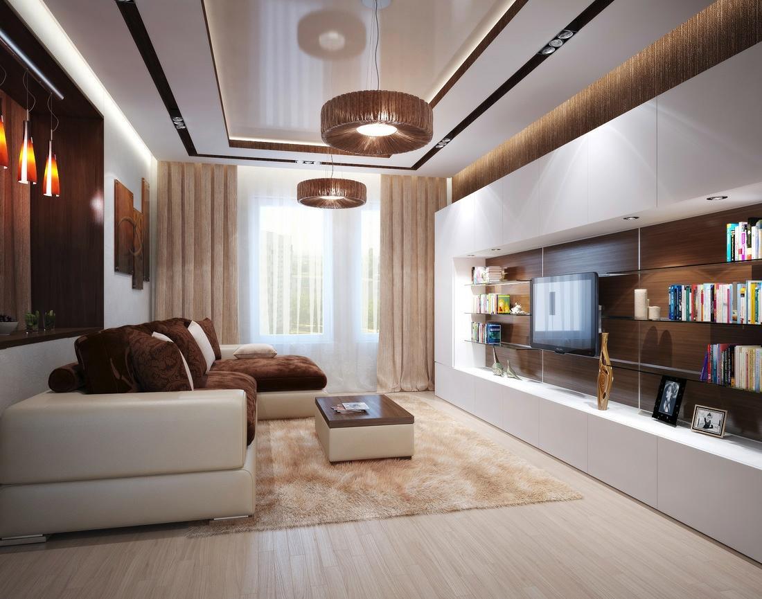 Пружинный коричневый диван