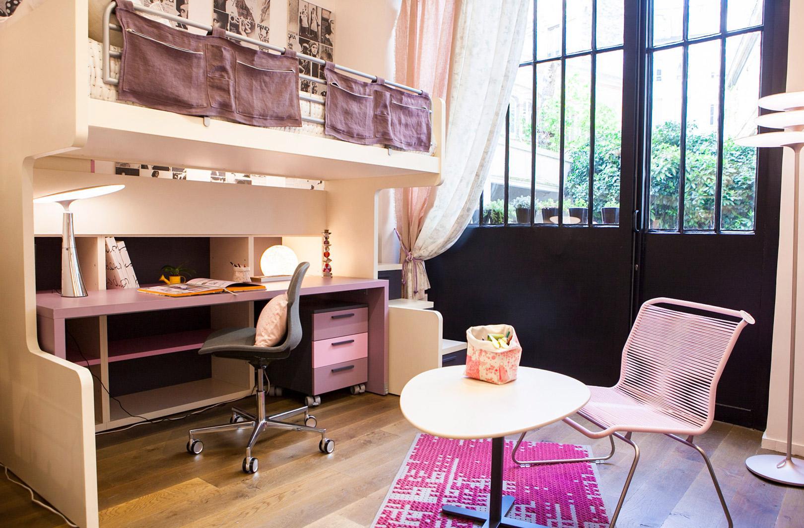 Дизайн комнаты для подростка с кроватью чердаком