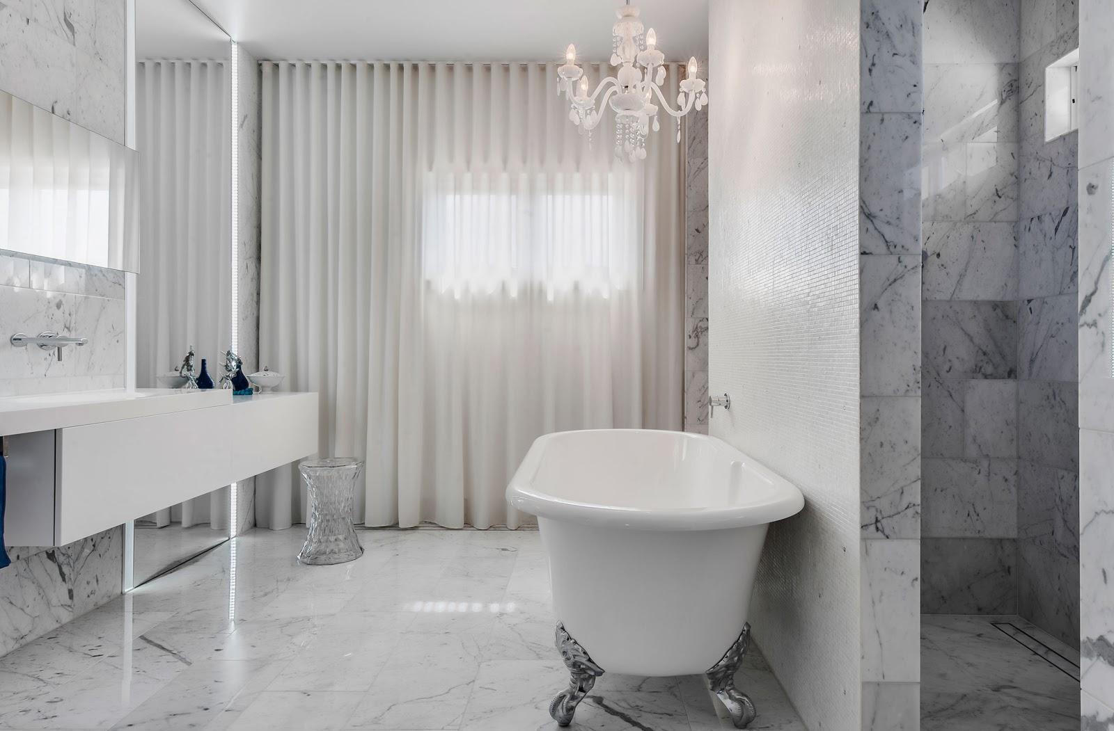 Мраморная ванная без унитаза