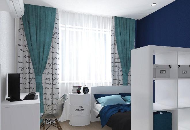 Дизайн спальни 14 кв.м