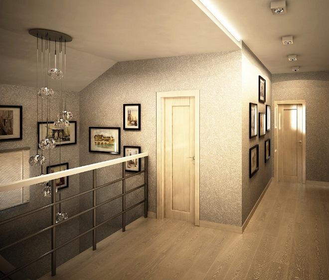 Дизайн коридора на втором этаже