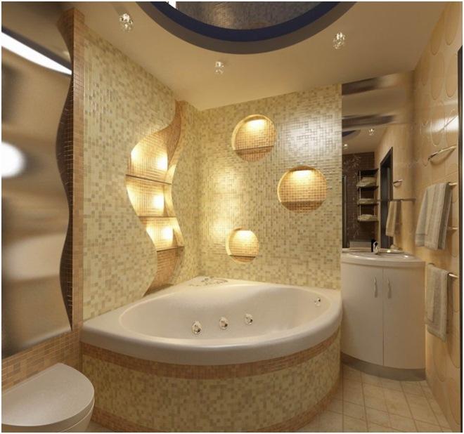 Дизайн ванной комнаты без туалета