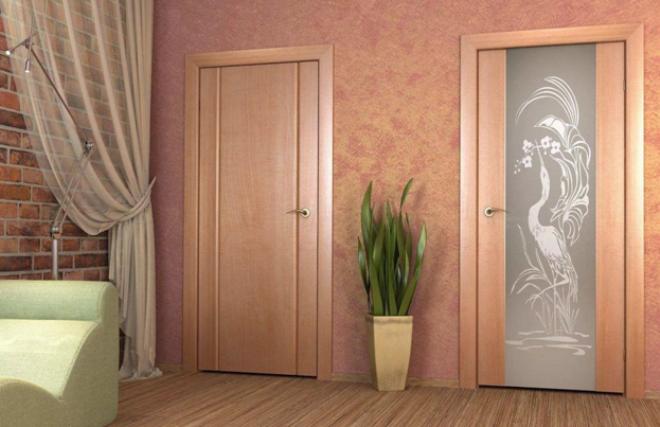 Дверь цвета капучино