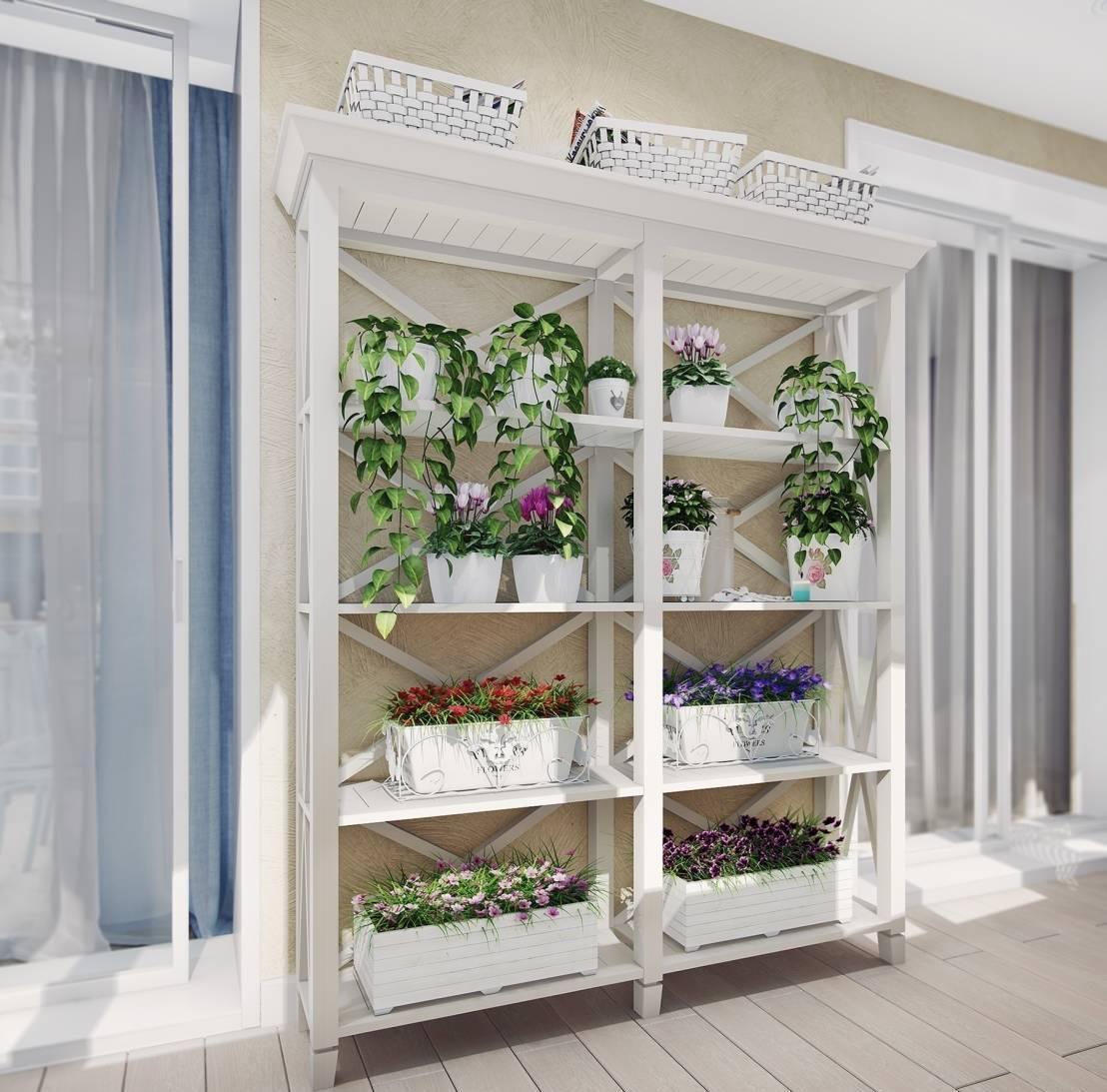 Украшение балкона живыми растениями