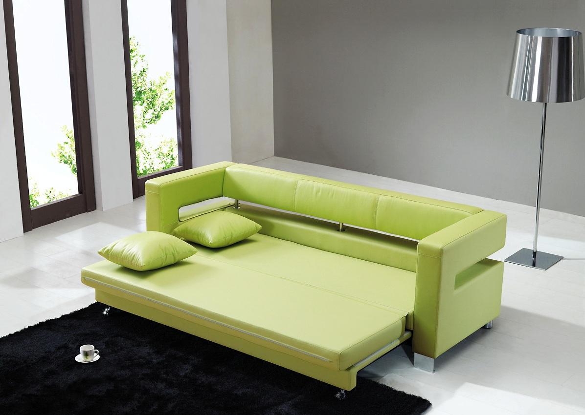 Выкатной диван из кожи