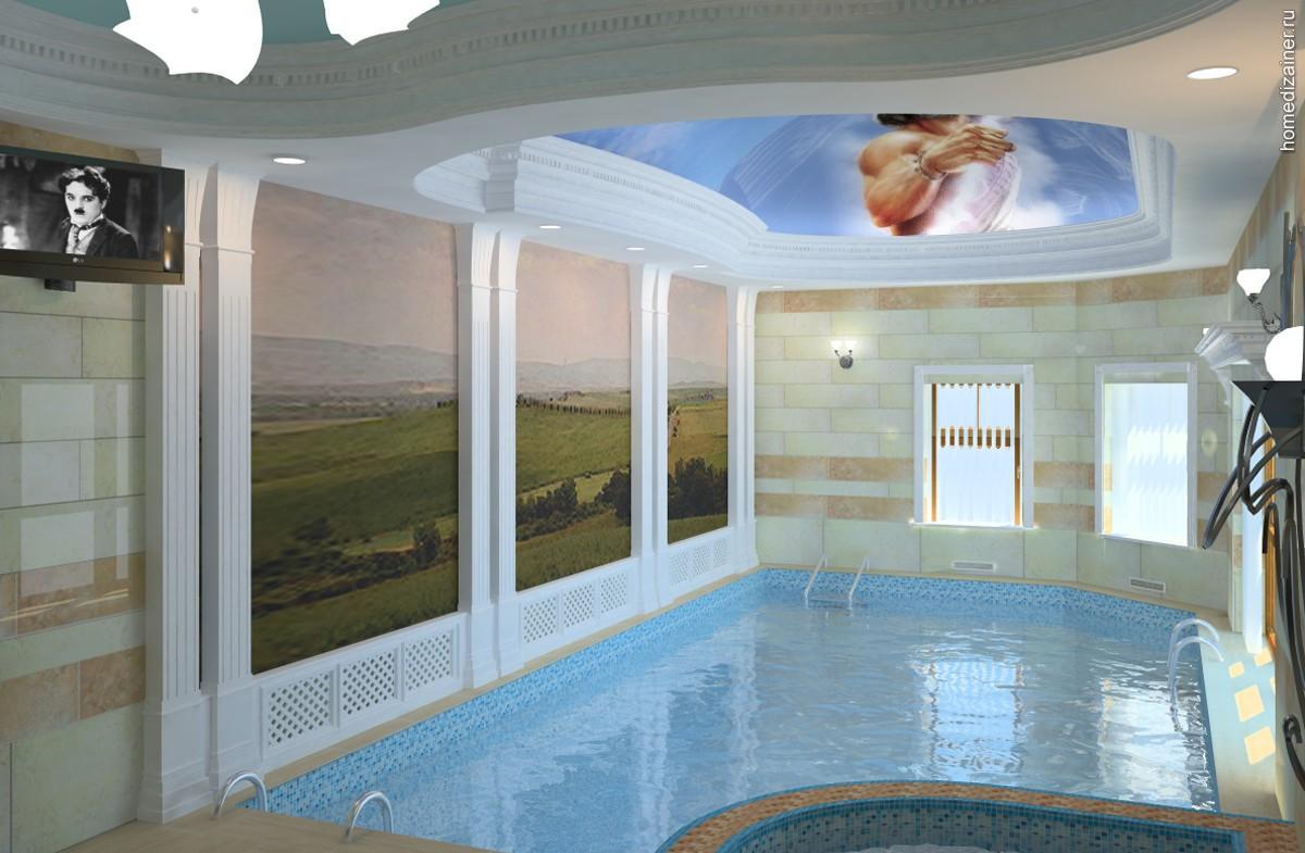 Небольшой бассейн в частном доме