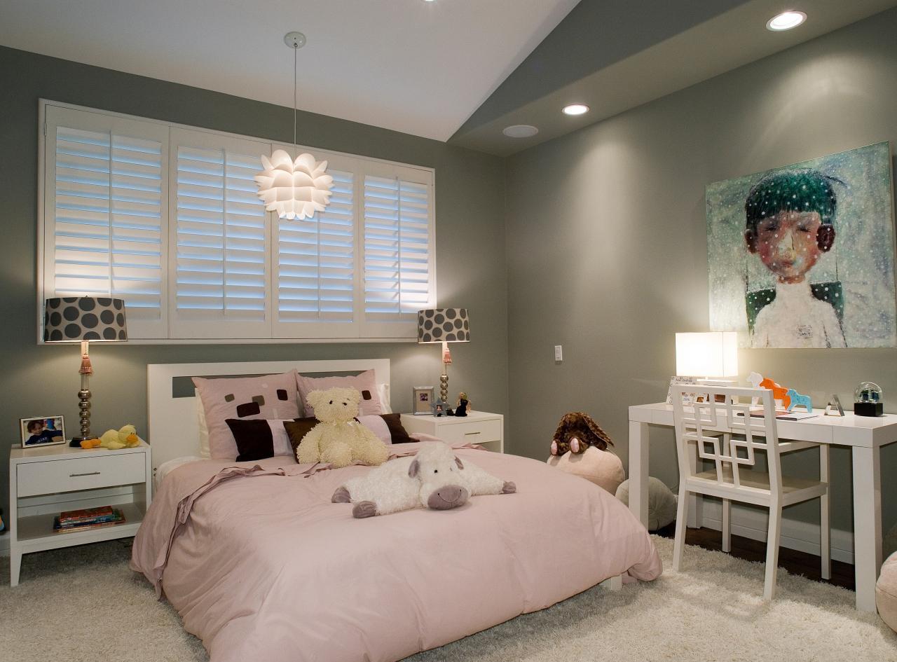 Дизайн комнаты для подростка серый