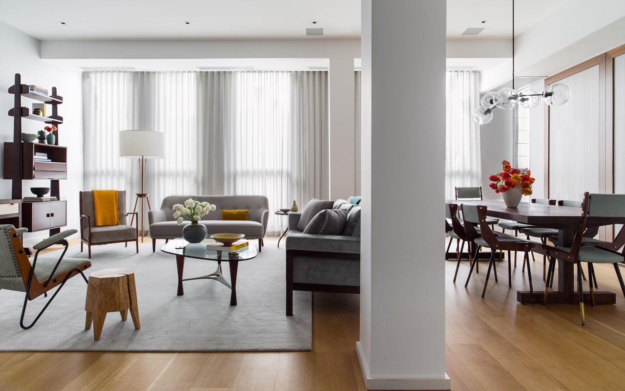 Лаконичный дизайн двухуровневой квартиры