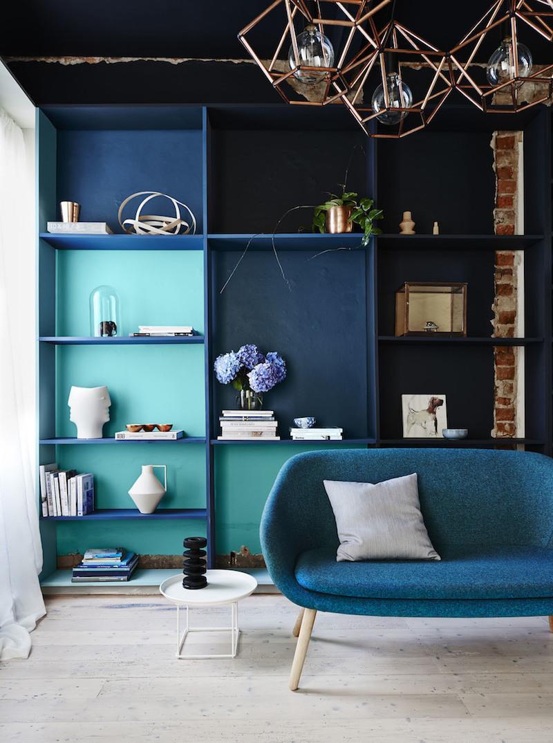 Бирюзовая мебель в интерьере