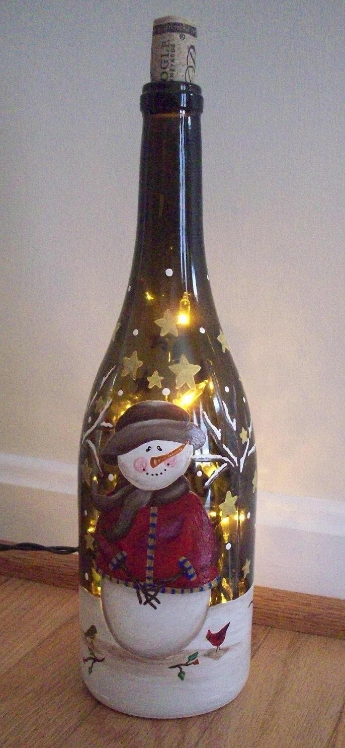 Частичный декупаж бутылки шампанского