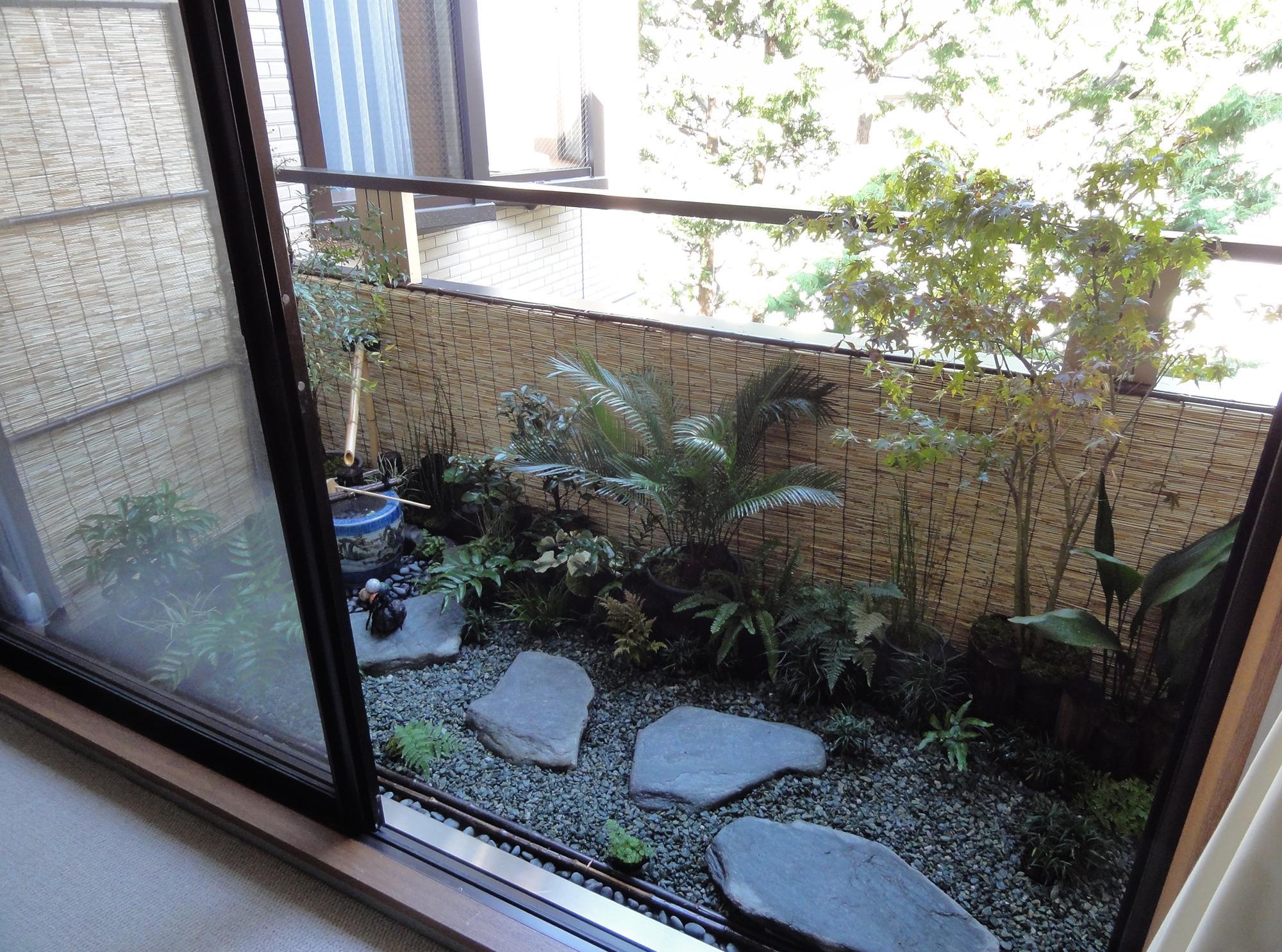 Японский сад на балконе