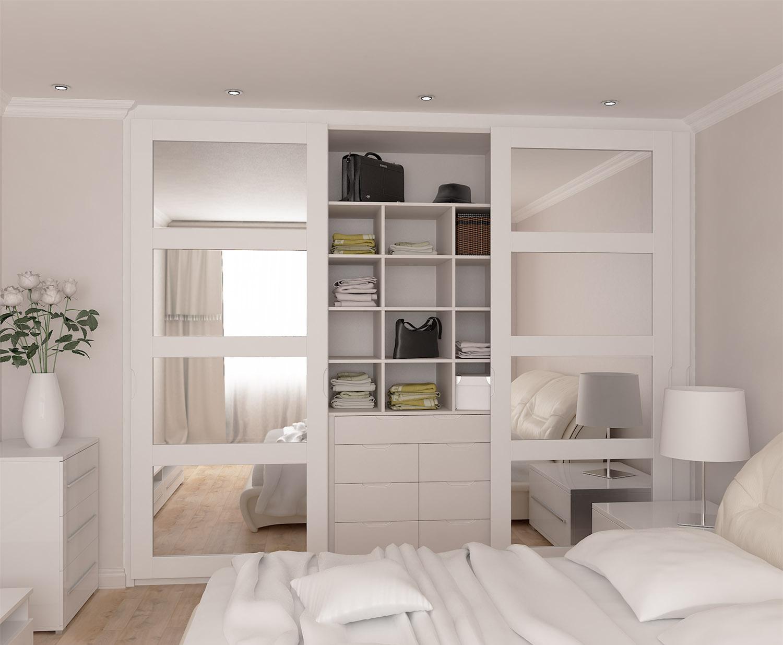 Встроенный шкаф с раздвижными дверями