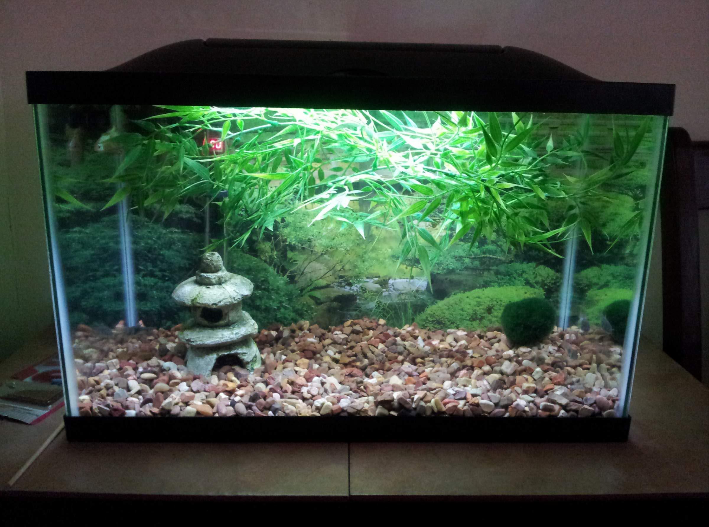 Декор для аквариума в японском стиле
