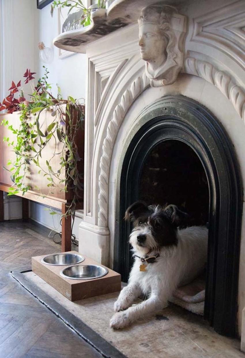 Будка для собаки из камина