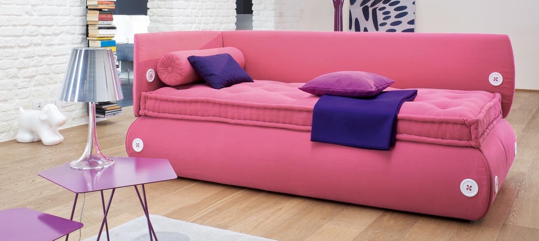 Розовый диван для девочки