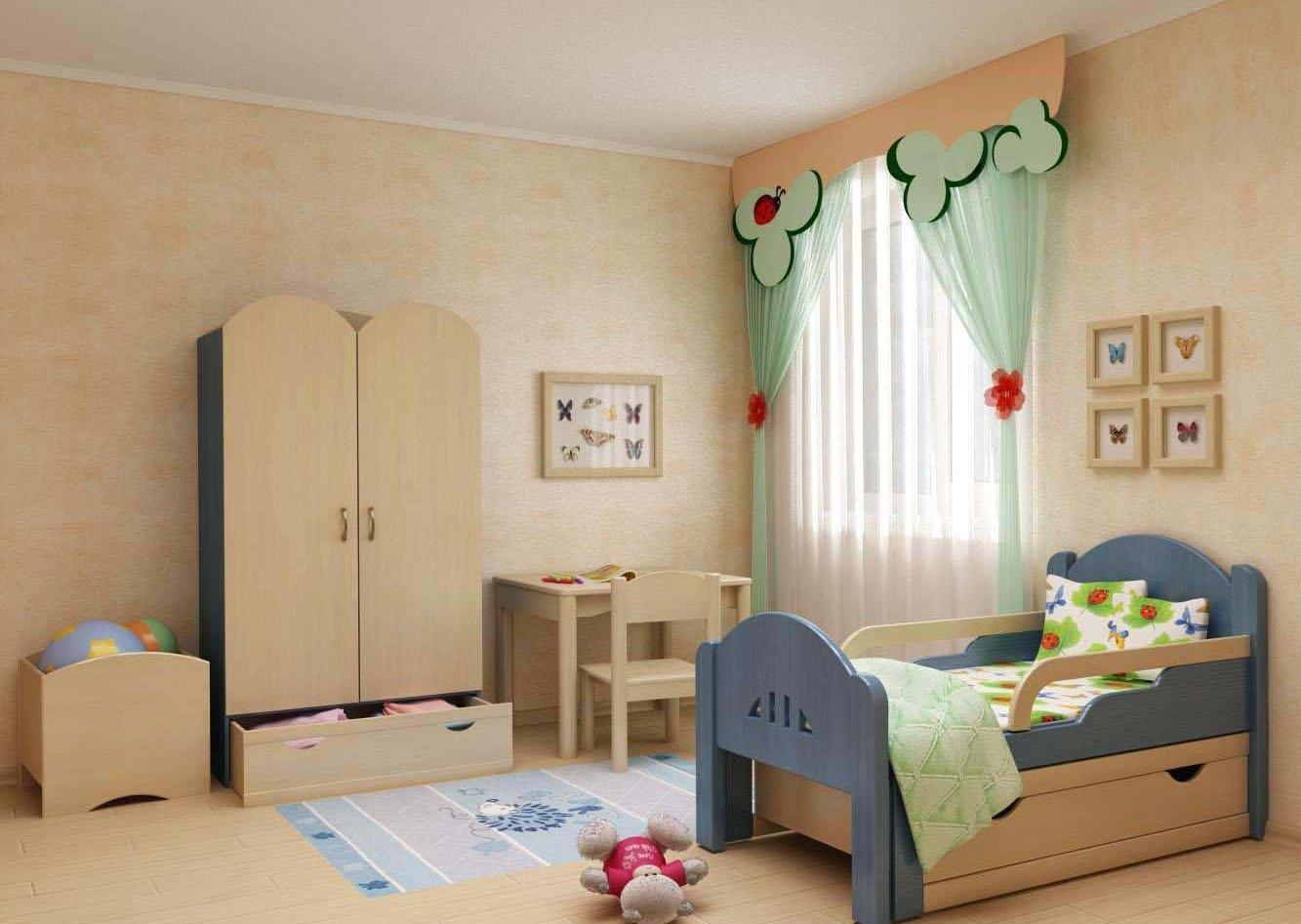 Детская кровать с ручками-бортиками