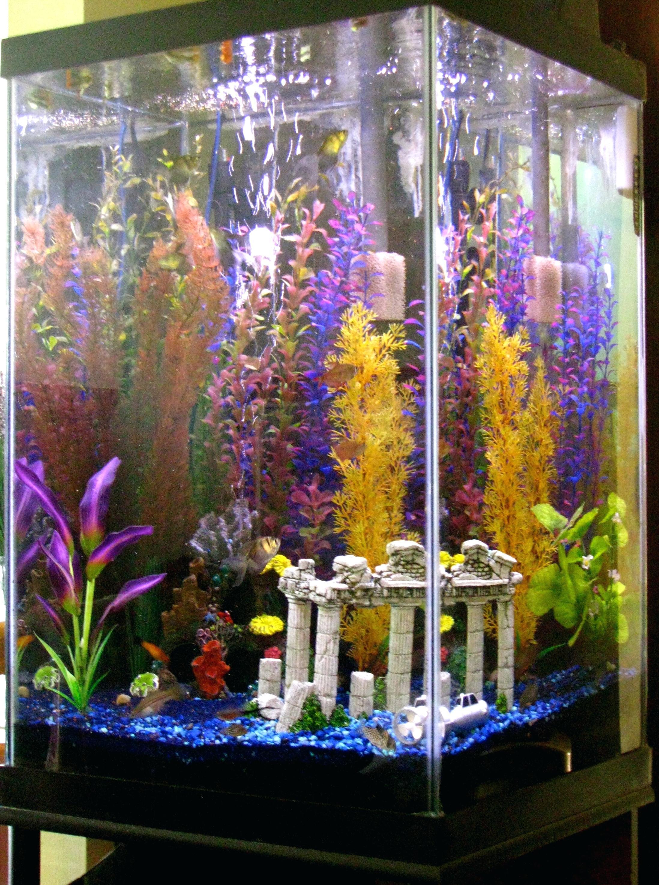 Декор для аквариума с колоннами