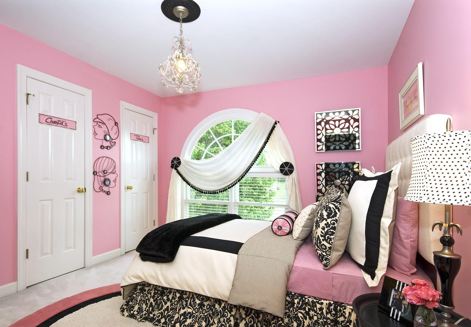 Дизайн комнаты для подростка розовый
