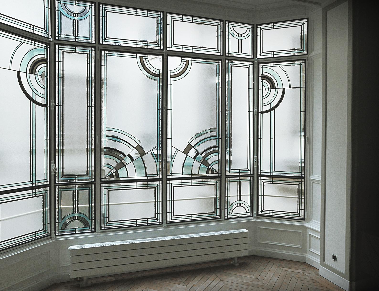 Витражная пленка на эркерное окно