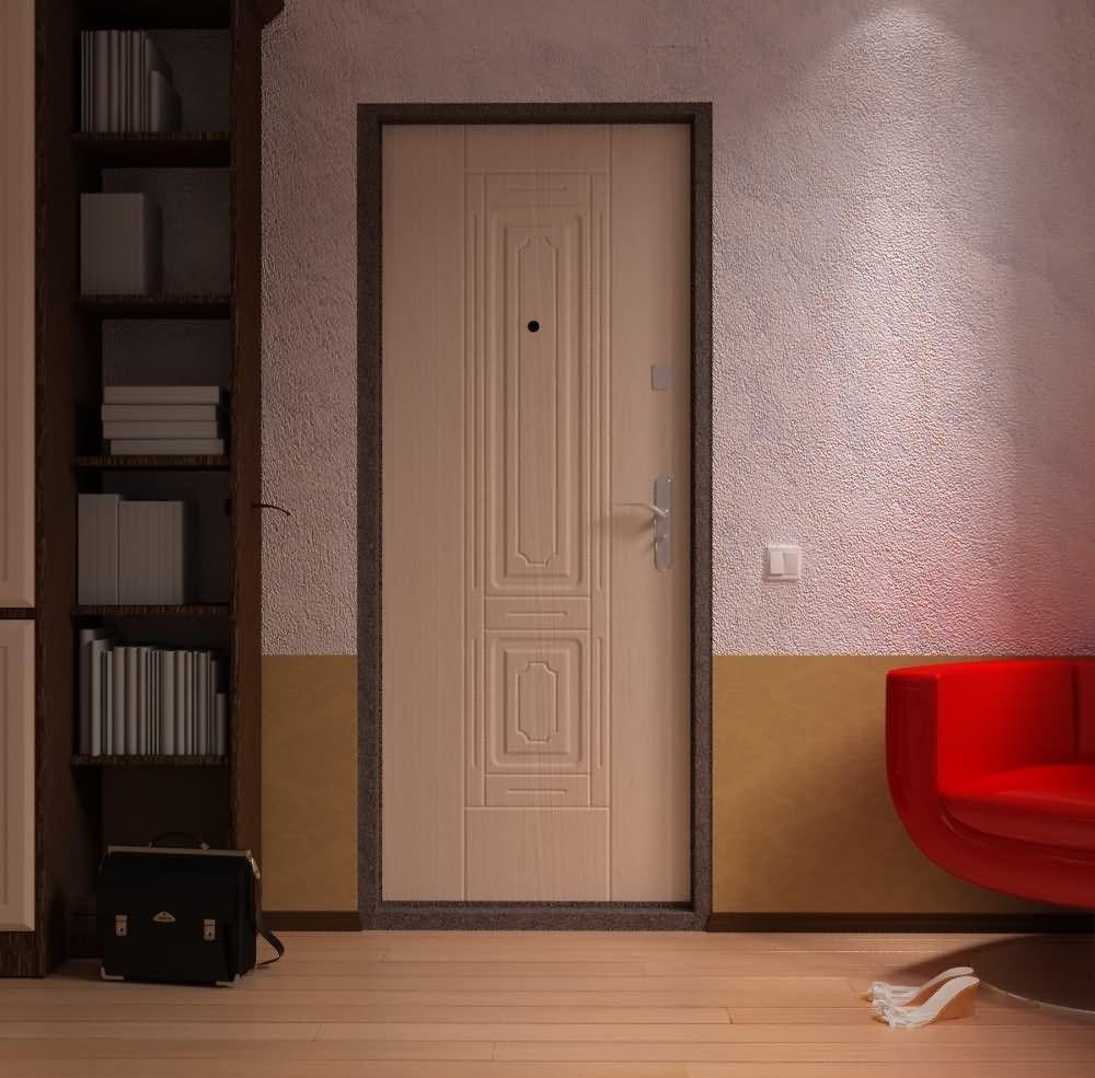Дверь капучино из стали