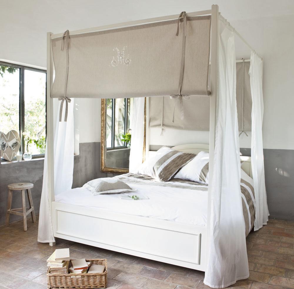 Балдахин над кроватью серыйБалдахин над кроватью серый