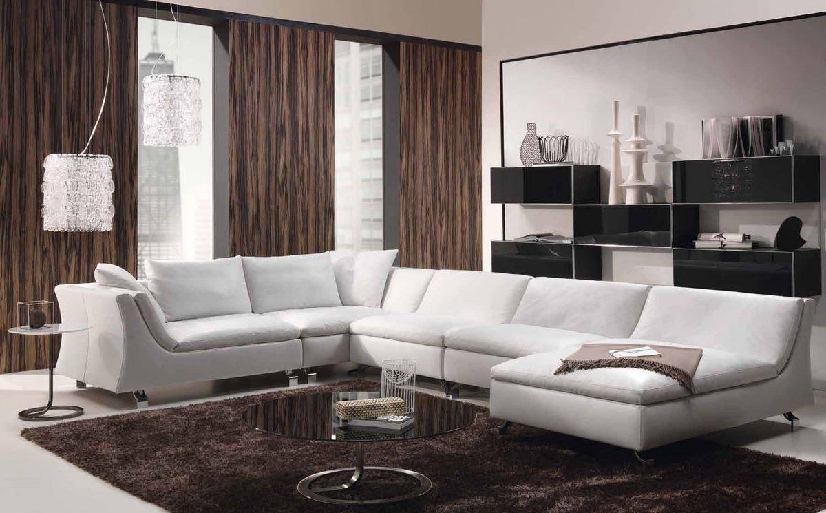 Белый пружинный диван