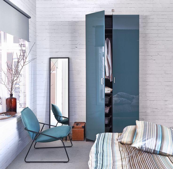 Отличное сочетание шкафа Пакс и дизайнерское решения в комнате