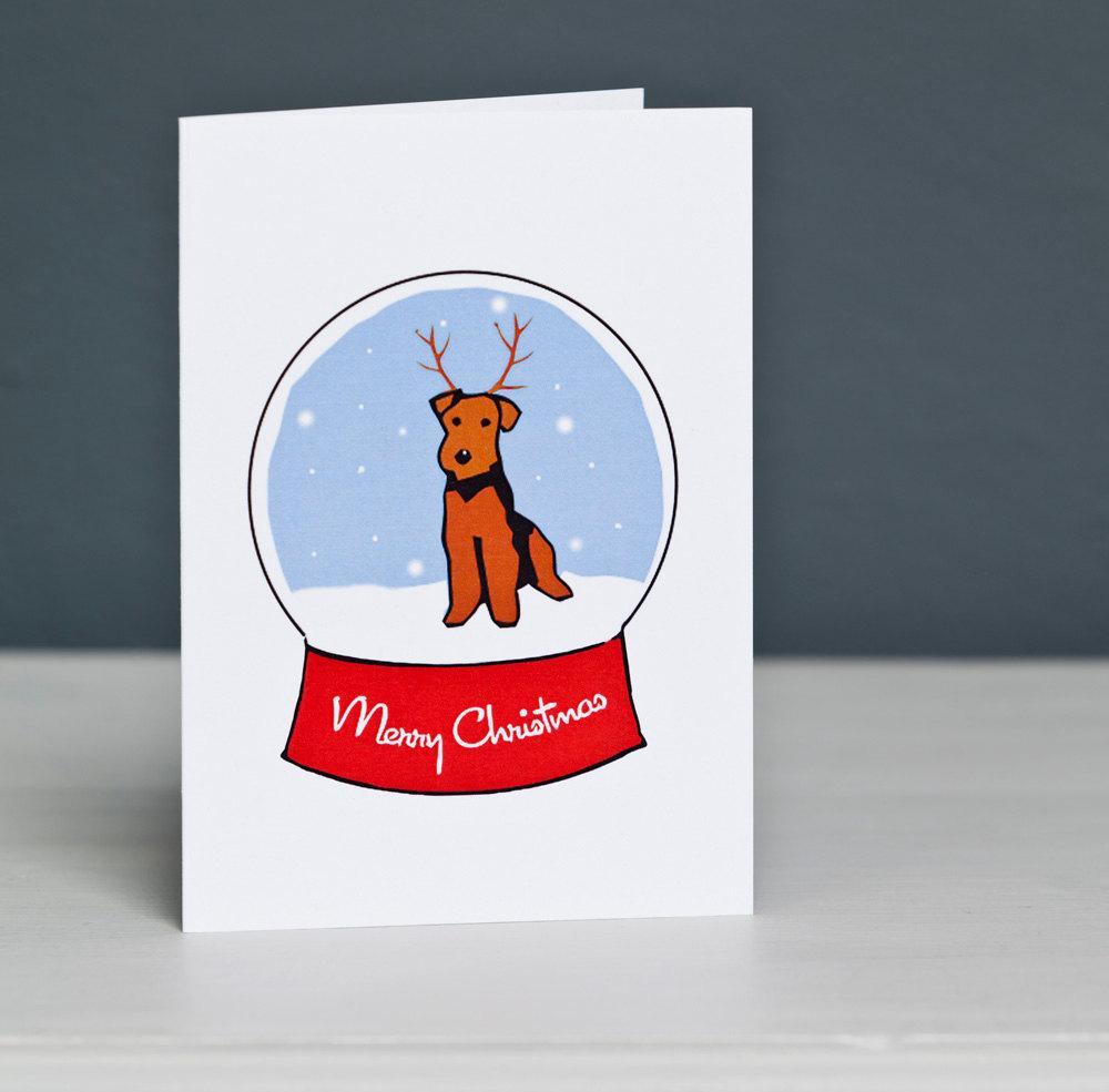 Новогодняя открытка с собакой