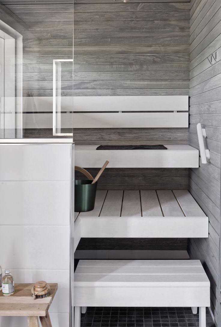 Серый интерьер бани