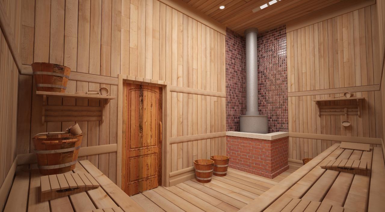 Проект парилки в бане