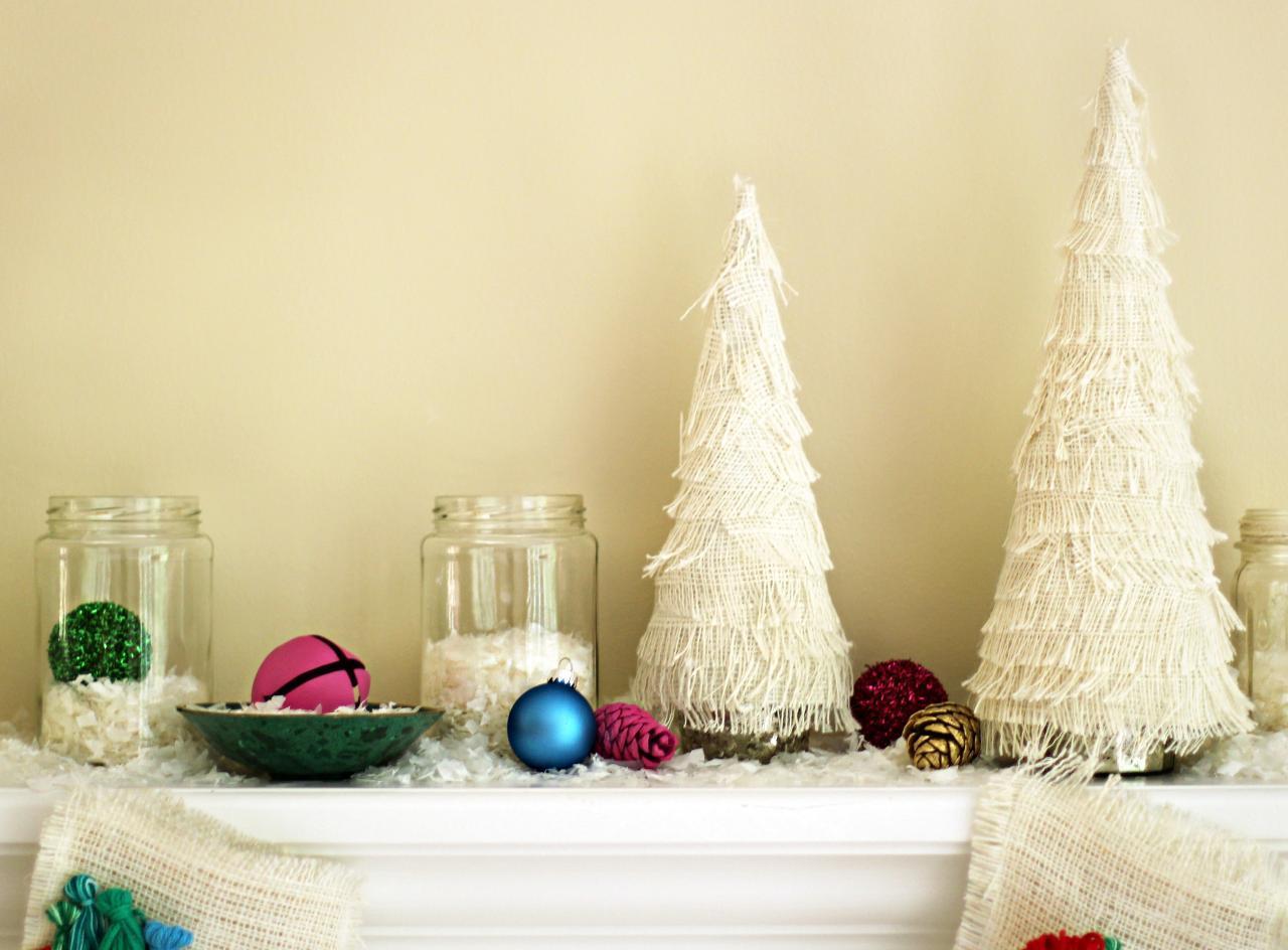 Новогодний декор квартиры тканью