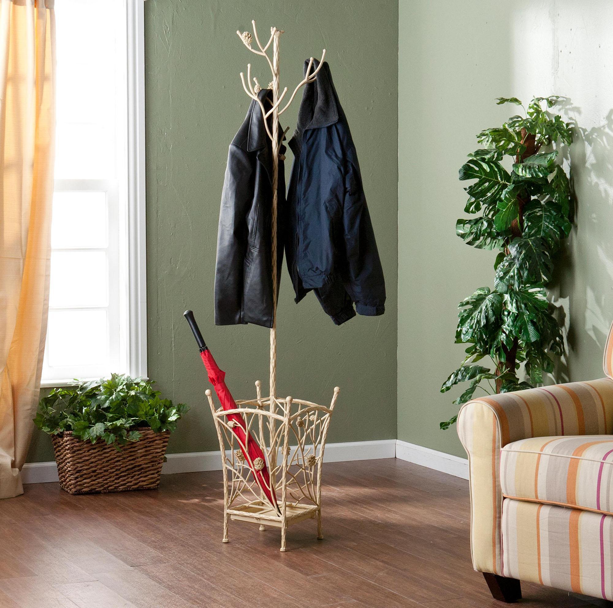 Напольная вешалка с местом для зонтов