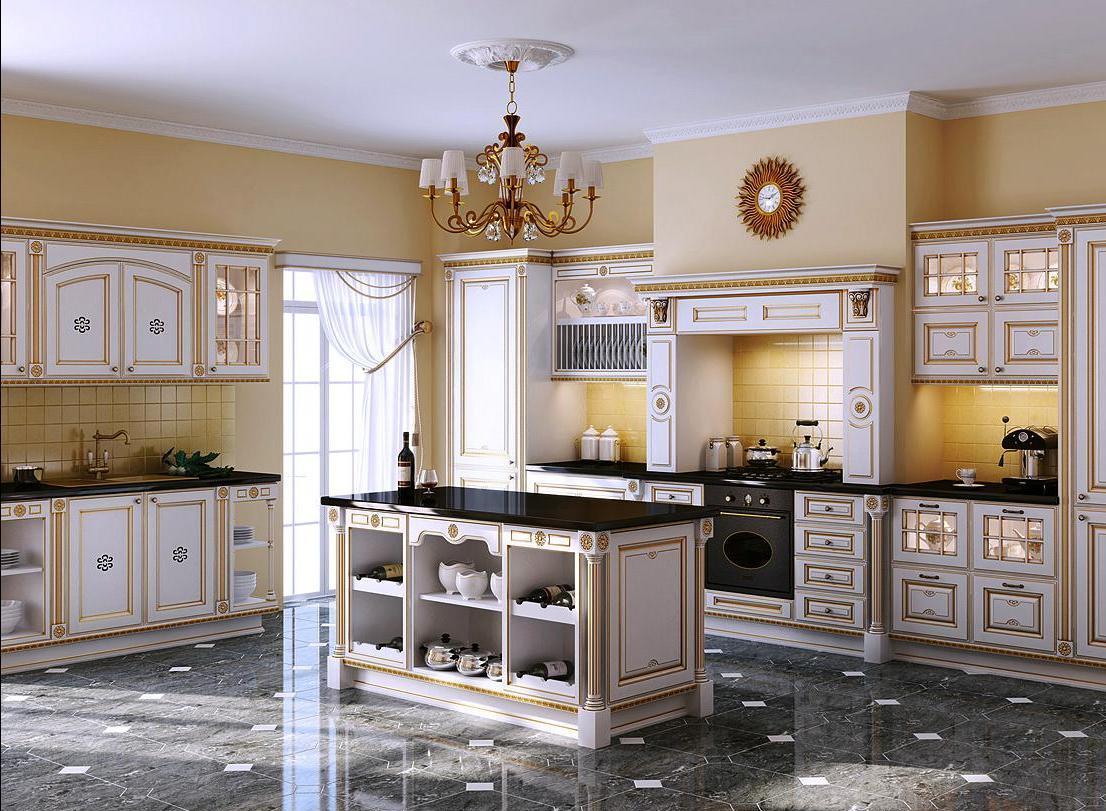 Роскошная кухня в итальянском стиле