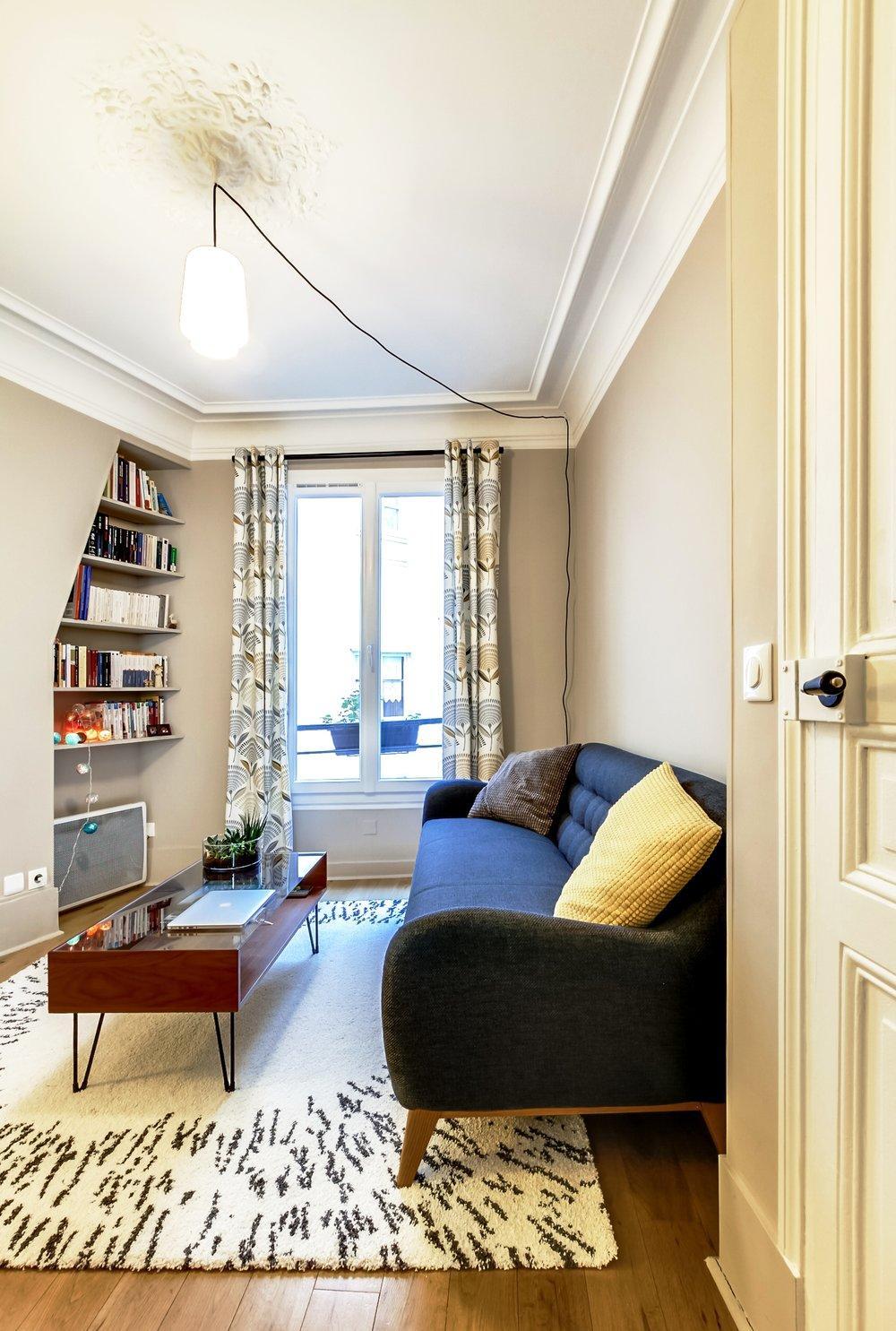 Обстановка однокомнатной квартиры в стиле ретро