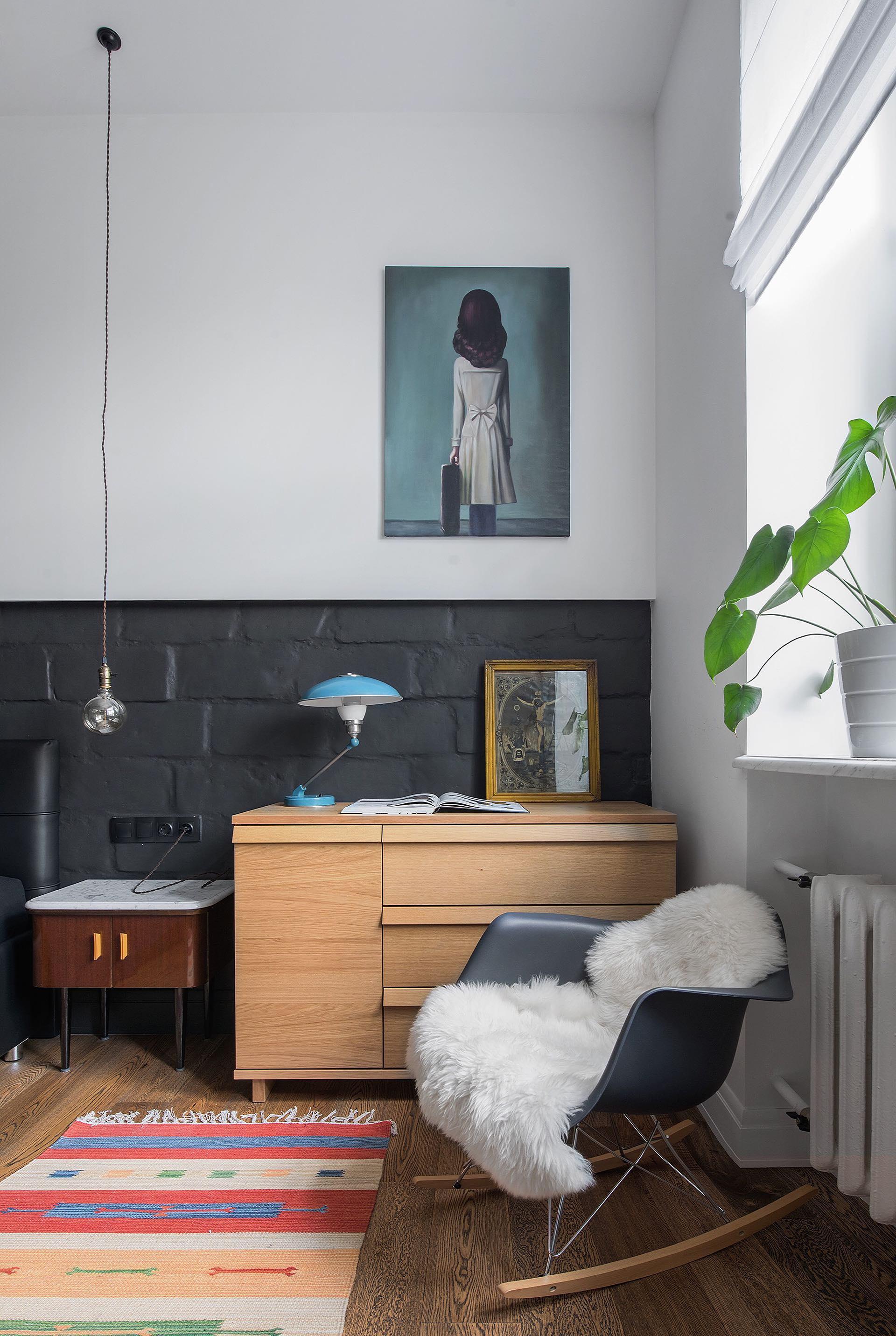 Обстановка однокомнатной квартиры в стиле лофт
