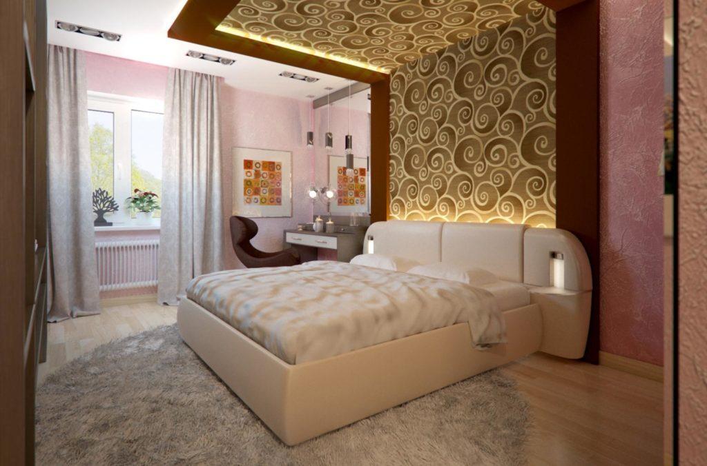 таком материале варианты оформления спальни фото стенка гостиную