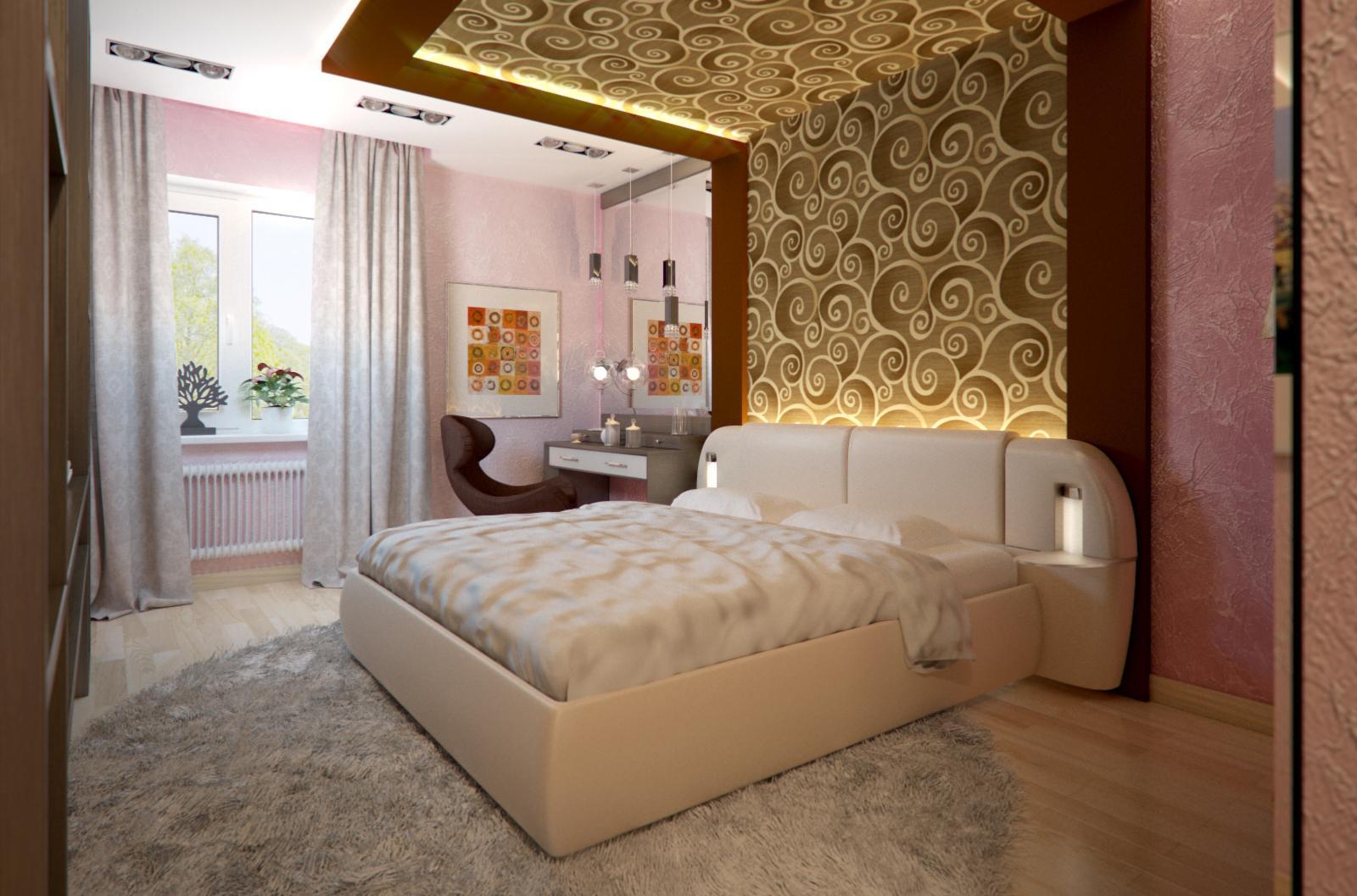 Спальня 16 кв м в современном стиле